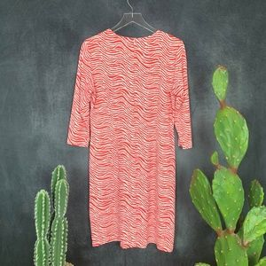 J. McLaughlin Dresses - J. McLaughlin Coral Orange White Wave Print Dress